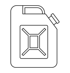 Petrol tank icon outline style vector image vector image