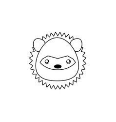 Porcupine drawing face vector