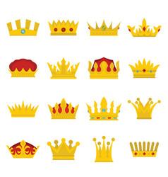 royal crowns se vector image