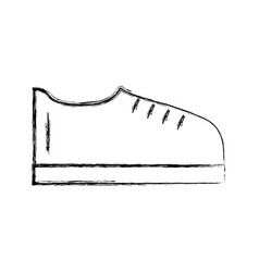 sketch draw shoe cartoon vector image vector image