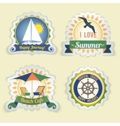 Summer sea emblems vector image