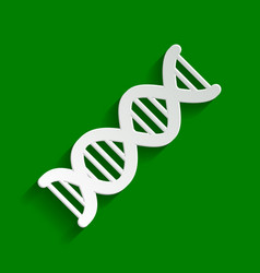 The dna sign paper whitish icon with soft vector