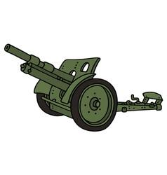 Vintage green cannon vector