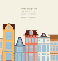 Card with houses vector image