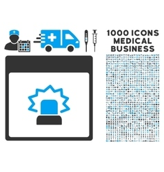 Alert calendar page icon with 1000 medical vector