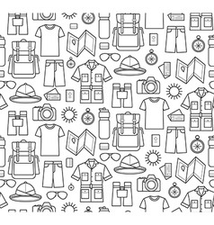 Seamless pattern of safari planning vector
