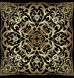 Square gold pattern vector