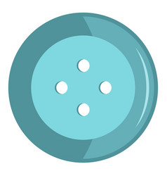 Blue clothing button icon isolated vector
