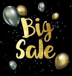 golden big sale background vector image