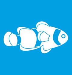 fish clown icon white vector image