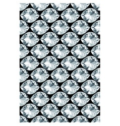 Black background with diamonds seamless pattern vector
