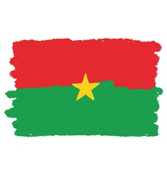 Flag of burkina faso handmade vector