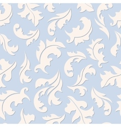 Floral seamless blue pattern vector