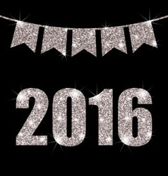 Bunting pennants for happy new year 2016 vector