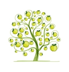 Apple tree for your design vector