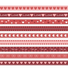 Borders with hearts vector