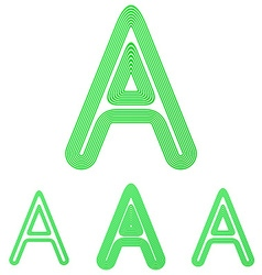 Green letter a logo design set vector