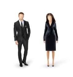 Businessman and businesswoman isolated vector
