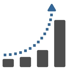 Bar chart trend toolbar icon vector