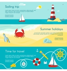 Nautical banner set vector