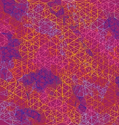 Abstract color geometric outline background vector