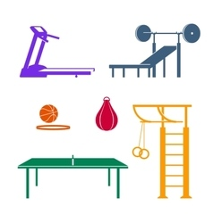 Sports equipment colored vector