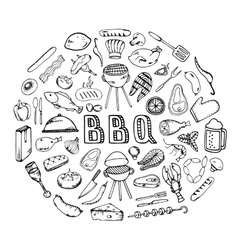 Barbecue grill party vector