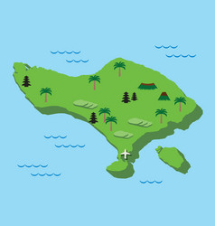 Bali map flat design vector