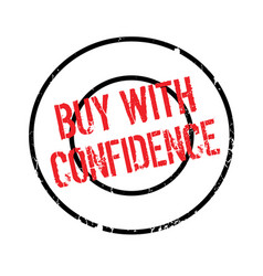 Buy with confidence rubber stamp vector