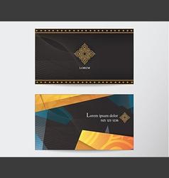 Card design template abstract creative thai style vector
