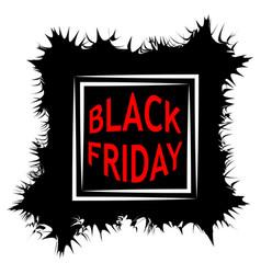 Dark black friday sale poster sale frame vector