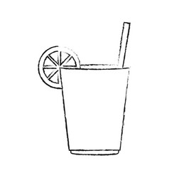 delicious lemonade cup vector image
