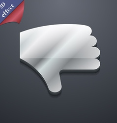 Dislike Thumb down Hand finger down icon symbol 3D vector image