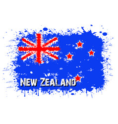 Flag of new zeland from blots of paint vector