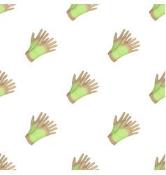 Garden gloves to work with the land in the garden vector