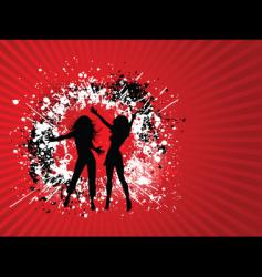 grunge females vector image vector image