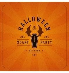 Halloween typographic design background vector
