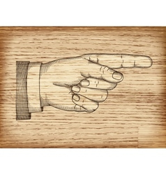 Hand with pointing finger eps 10 vector