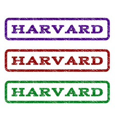 Harvard watermark stamp vector