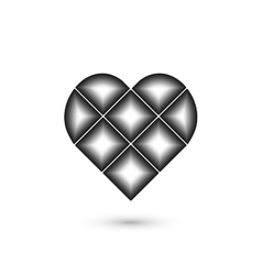 Heart geometric sign Fashion graphic design vector image