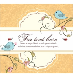 label with floral vector image vector image