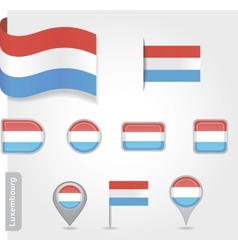 Luxembourg flag icon vector image vector image