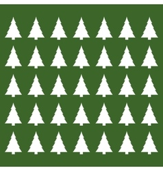 Merry christmas tree pine card vector image