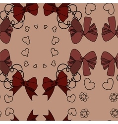 Pattern with bow vector image vector image