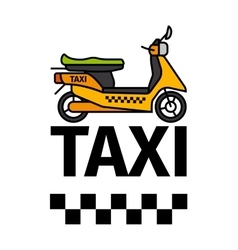 Scooter taxi transport poster vector image vector image