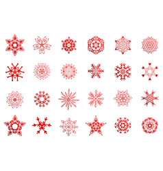 simple winter snowflakes vector image vector image