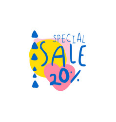 Special sale 20 percent off logo template vector