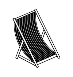 sun chair icon image vector image