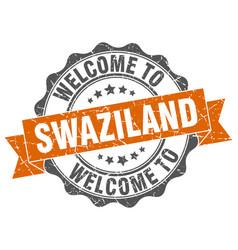 swaziland round ribbon seal vector image vector image