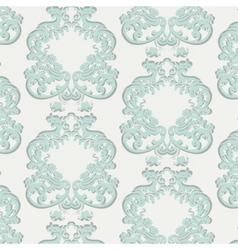 Vintage Floral Baroque Damask Pattern vector image vector image